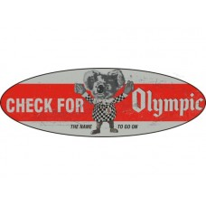 Olympic Tyres Oval tin metal sign