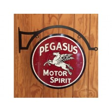 Pegasus Large Round with Hanger tin metal sign