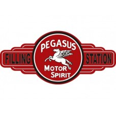 Pegasus Motor Spirit Service Station tin metal sign