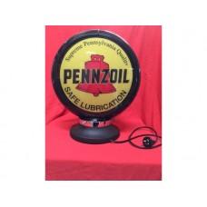 Petrol Bowser Globe and Base Pennzoil illuminated sign