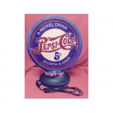Petrol Bowser Globe and Base Pepsi illuminated sign