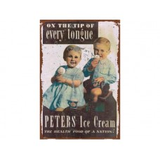 Peters Ice Cream Nation tin metal sign
