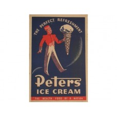 Peters Perfect Refreshment tin metal sign