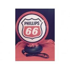 Petrol Bowser Globe and Base Phillips 66 illuminated sign