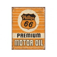 Phillips 66 Premium Oil tin metal sign