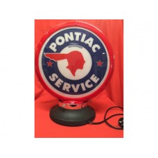 Petrol Bowser Globe and Base Pontiac illuminated sign