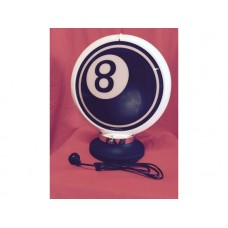 Petrol Bowser Globe and Base Pool 8 Ball illuminated sign