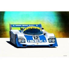 Porsche 956C tin metal sign