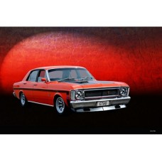 Red Falcon GT tin metal sign