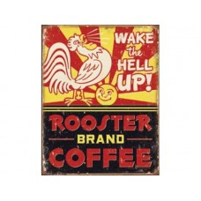 Rooster Brand Coffee tin metal sign