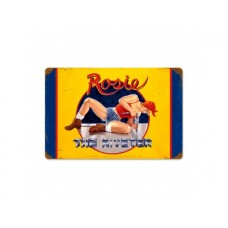 Rosie the Riveter tin metal sign