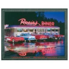 Rosies Diner tin metal sign