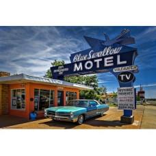 Route 66 Blue Swallow Inn tin metal sign