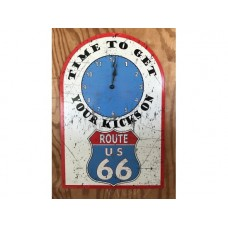 Route 66 Clock tin metal sign