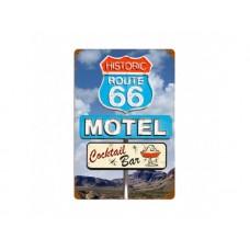 Route 66 Motel tin metal sign
