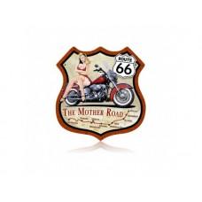 Route 66 Pinup Bike tin metal sign