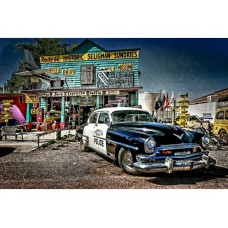 Route 66 Seligman Attraction Police Car tin metal sign