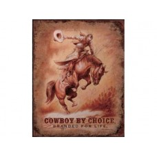 Saddle Bronc tin metal sign