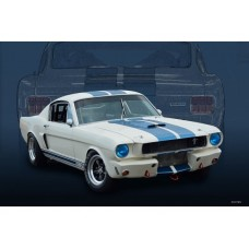 Shelby Mustang metal tin sign