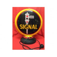 Petrol Bowser Globe and Base Signal illuminated sign