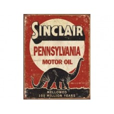 Sinclair-Million Years tin metal sign