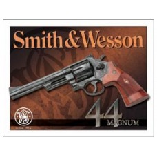 Smith and Wesson 44 Magnum tin metal sign