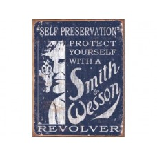 Smith & Wesson - Self Preservation tin metal sign