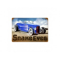 Snake Eyes tin metal sign