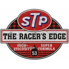 STP Racers Edge tin metal sign