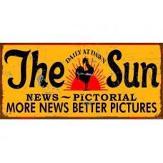 Sun News Pictorial metal tin sign