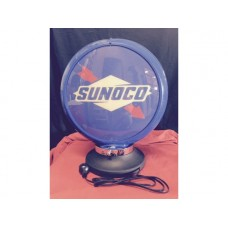 Petrol Bowser Globe and Base Sunoco illuminated sign
