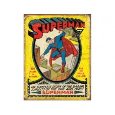 Superman No.1 cover tin metal sign