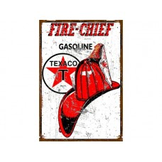 Texaco Fire Chief tin metal sign