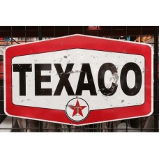 Texaco Hex tin metal sign