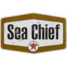 Texaco Sea Chief tin metal sign