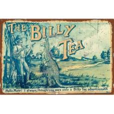 The Billy Tea tin metal sign