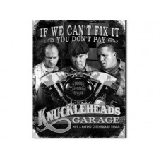 Three Stooges-Knucklehead Garage tin metal sign
