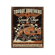 Torque Bros Gasser tin metal sign