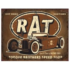 Torque Rat Rod tin metal sign