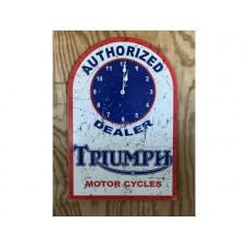 Triumph Motorcycle clock tin metal sign