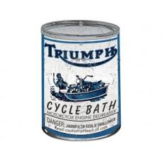 Triumph Cycle Bath Oil can tin metal sign