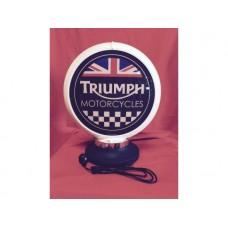 Petrol Bowser Globe and Base Triumph illuminated sign