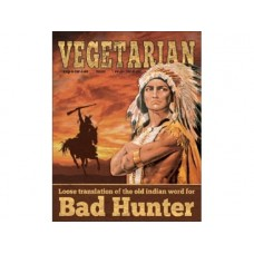 Vegetarian-Translation tin metal sign