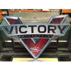 Victory Motorcycles tin metal sign
