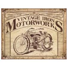 Vintage Iron Motorbikes tin metal sign