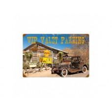 VIP Valet parking tin metal sign
