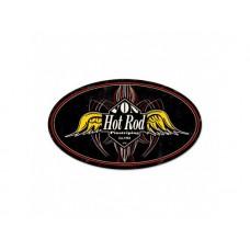 Von Hot Rod tin metal sign