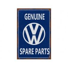 VW Volkswagon Spare Parts tin metal sign