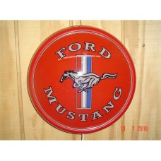 Plastic wall mount Ford Mustang