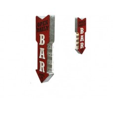 Marquee Sign Bar Open Daily tin metal sign